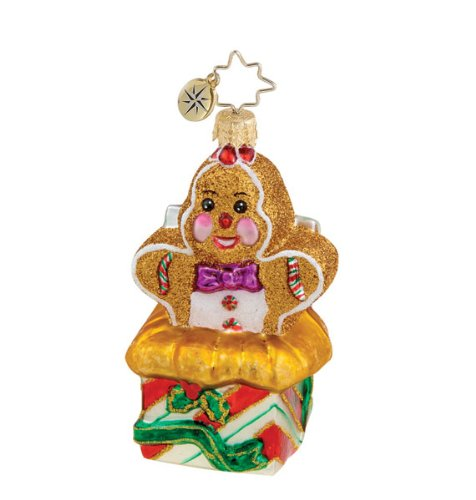 Christopher Radko Sweet Surprise Gingerbread Boy ornament