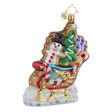 Radko SWEET SLEIGHRIDE Cookie Sleigh ornament NEW