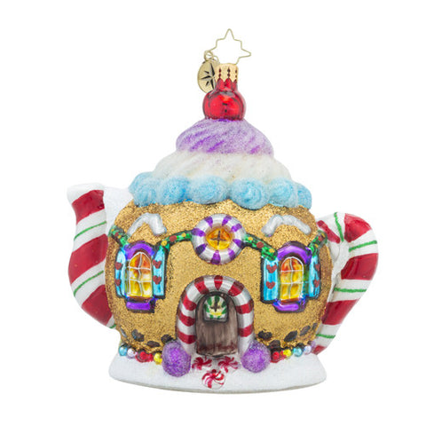 Radko Sweet Tea Pot Teapot Christmas Ornament