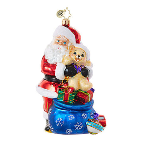 Christopher Radko THE BEST MEDICINE Santa Teddy Bear Ornament