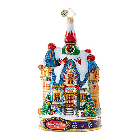 Christopher Radko THE BIG NIGHT Mansion House Ornaments OOTM