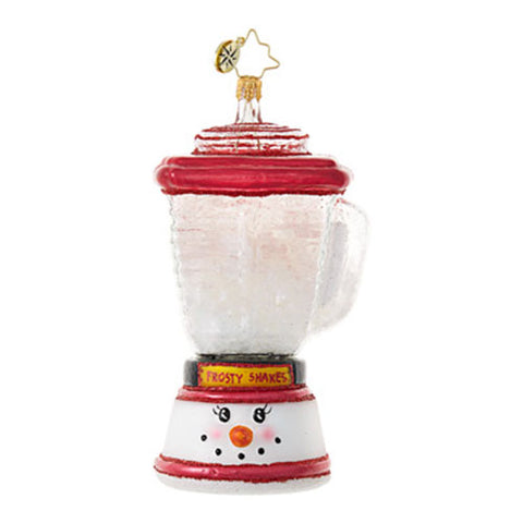 Radko THE PERFECT BLEND Blender Frosty Snowman ornament NEW