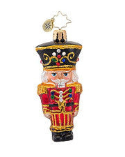 Christopher Radko TINY CRACKER Nutcracker GEM ornament