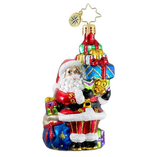 Christopher Radko TIP TOP SANTA CLAUS Gem ornament
