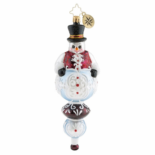 Christopher Radko Top Of His Game Snowman Ornament