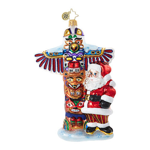 Radko TOTEM POLE TENDENCIES Santa Ornament New