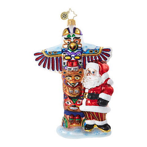 Christopher Radko TOTEM POLE TENDENCIES Santa Ornament New