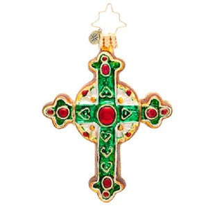 Radko LITTLE GEMS Traditional Rood Celtic Cross gem ornament NEW