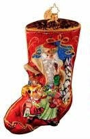 Radko Portrait Stocking Treasures Abound Santa Ornament NEW 2007 OOTM