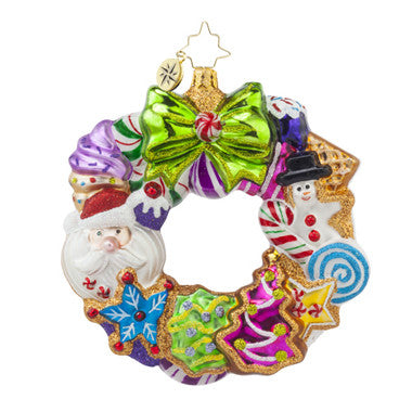 Christopher Radko TREATS WREATH Sweets Candy ornament NEW