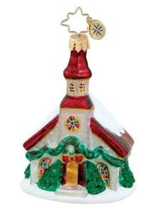 Christopher Radko Little Gem TRINITY CHURCH Christmas ornament