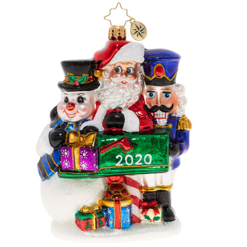 Christopher Radko 2020 Dated A Forever-Treasured Trio 2020 Ornament