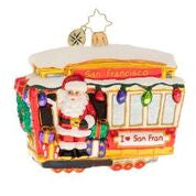 Christopher Radko What A Jolly San Fran Trolley Cable Car ornament