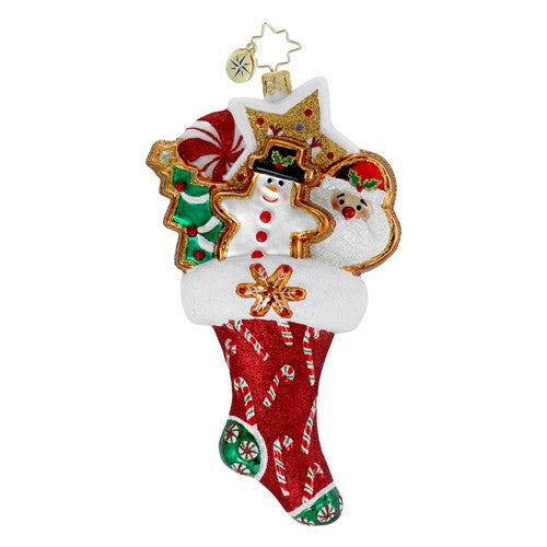 Christopher Radko TWICE AS NICE Sweets Stocking GEM ornament