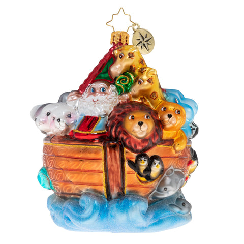 Christopher Radko Boarding Two By Two Noah's Ark Ornament