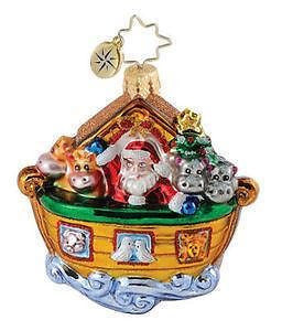 Radko Little Gem NOAH'S ARK Two if by Sea ornament NEW