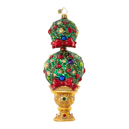 Radko UPTOWN TREE Topiary Christmas Ornament NEW