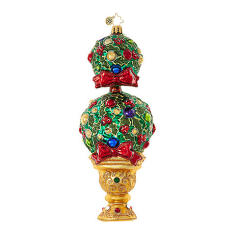 Christopher Radko UPTOWN TREE Topiary Christmas Ornament