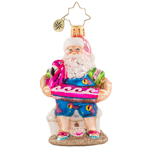 Christopher Radko Out Of Office Santa Gem Ornament