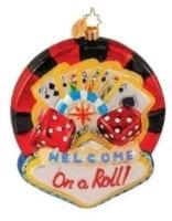RADKO LAS VEGAS On a Roll State ornament New