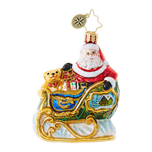 Radko Little Gems VILLAGE SLEIGH RIDE SANTA Gem Ornament NEW