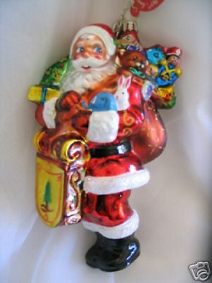 Radko VILLAGE VISITOR Santa Ornament NEW