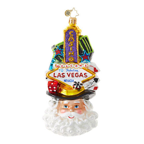 Radko VIVA LAS VEGAS Santa Christmas Ornament New 2017
