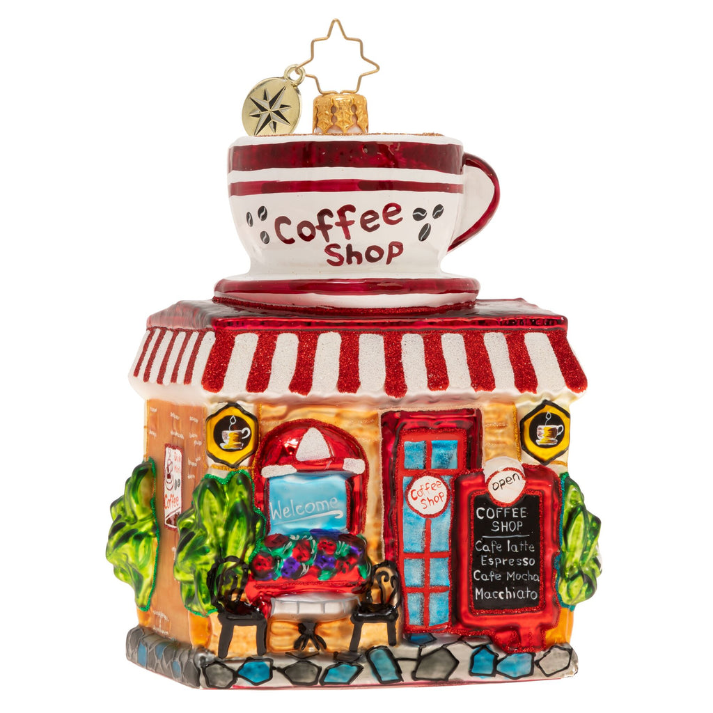 Christopher Radko Wake Up And Smell The Coffee Shop Ornament