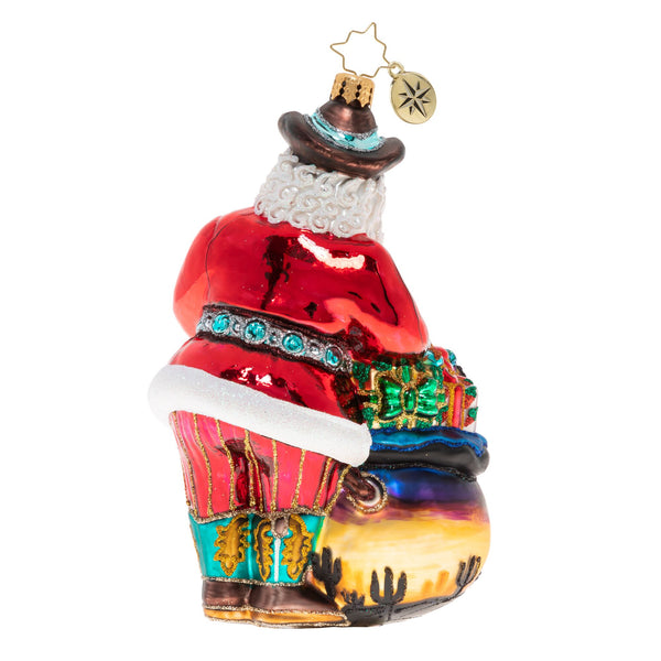 Christopher Radko Wildly Western Santa Ornament