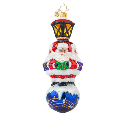 Christopher Radko WE WISH YOU A MERRY CHRISTMAS Caroling ornament