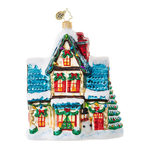 Christopher Radko WINTER HAVEN Cottage House Ornament