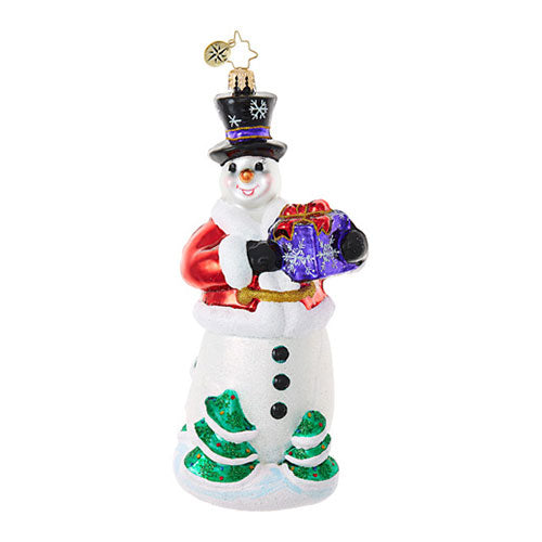 Christopher Radko WINTER OFFERING Snowman Ornament New