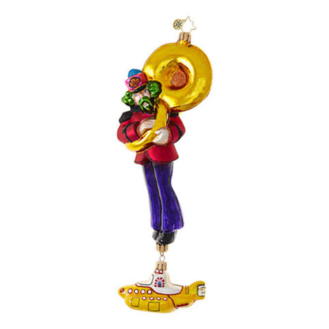 Radko  The Beatles Yellow Submarine George Ornament  New RETIRED
