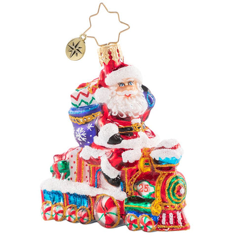 Christopher Radko On The Tracks Santa Train Gem Ornament