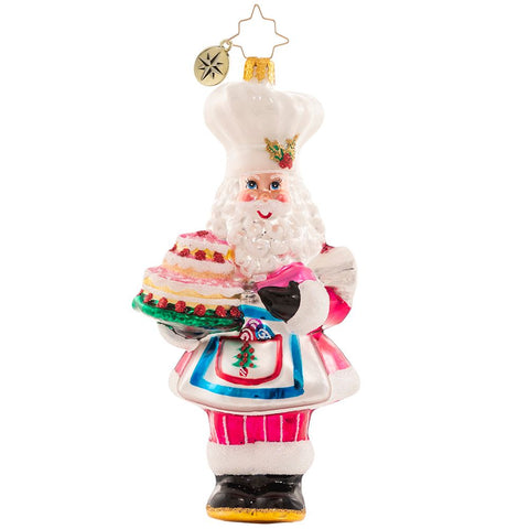 Christopher Radko Santa's Tower Of Flour! Baker Ornament