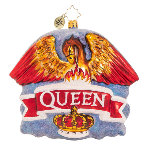 Christopher Radko Queen Coat of Arms Christmas Ornament