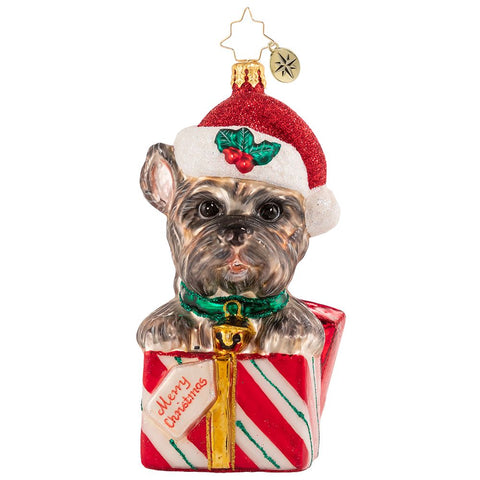 Christopher Radko The Gift Of Puppy Love Dog Terrier Ornament