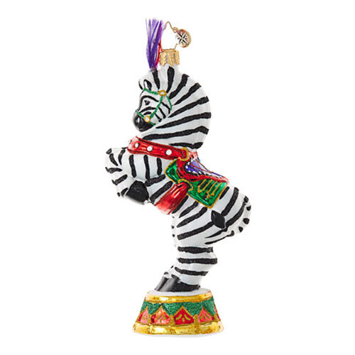 Radko ZEBRA ZINGER Circus Ornament New
