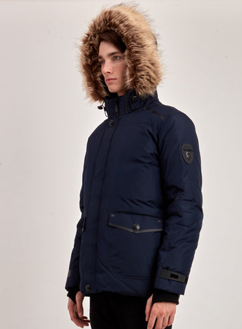 manteaux d'hiver mi-long navy homme point zero liquidation