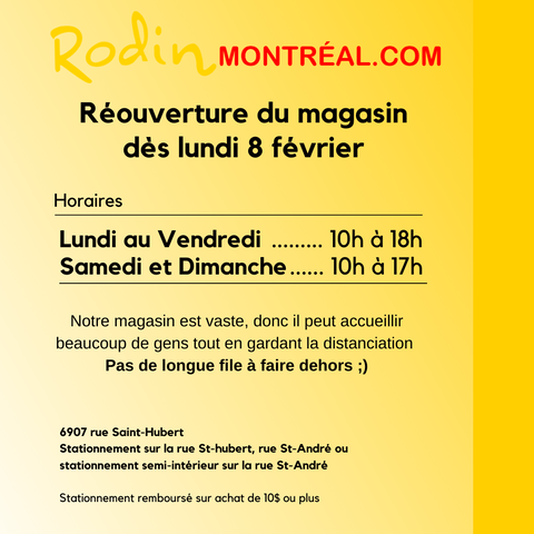nouvel horaire rodin montreal