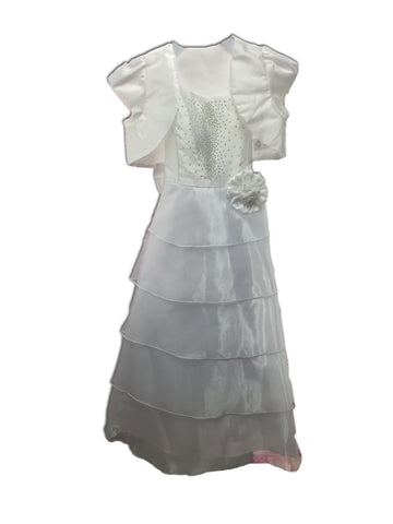 Girls Dress 21509-white