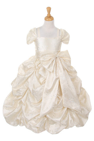 Girls Dress (4005-Ivory)