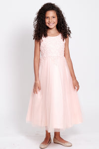 Cindrella Girls Dress (5008-Blush)