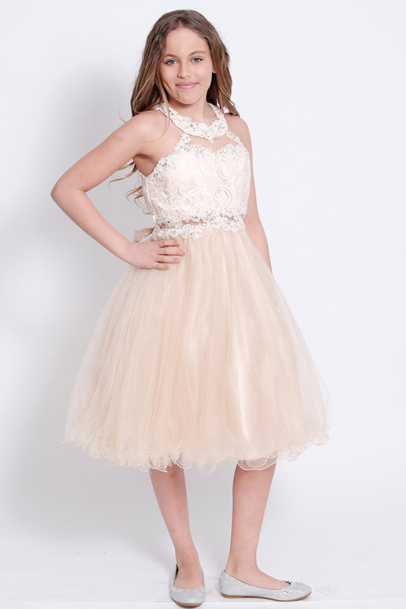 Cindrella Girls Dress (5040-Champagne)
