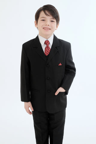 Boys suit with red tie (8218-Red-Tie)