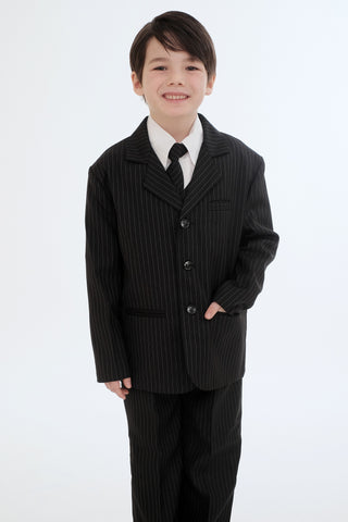 Boys suit black striped (FGSTU-8)