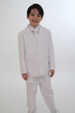 Boys Suit (8201-white)