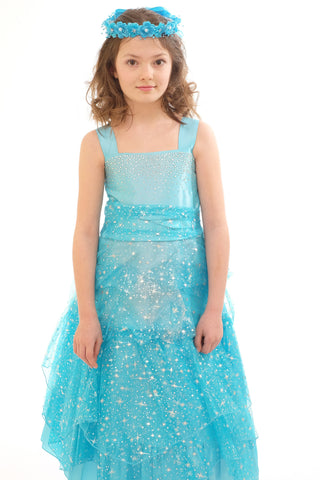 Girls Dress (4030-Turquoise)