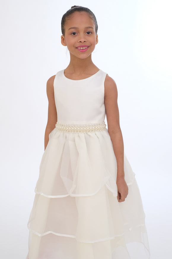 Flower Girls Dress (0334-Ivory)
