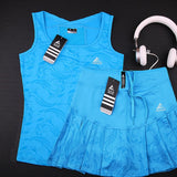 High Qaulity Tennis Skorts with Safety Short For Girls , Women's Badminton Skirts Vest, Female High Elastic Waist Stretch Skirt